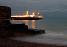 Pier at Brighton. The central pier of Brighton at dusk Royalty Free Stock Photo