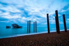 Pier Brighton del oeste y levantado Imágenes de archivo libres de regalías