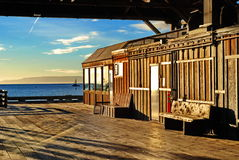 Pier Building pacífico Imagem de Stock Royalty Free
