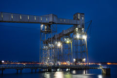 Pier built on industry Stock Photography