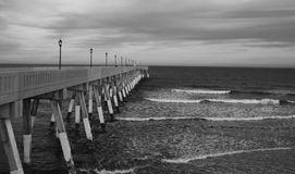 The Pier BW Royalty Free Stock Images