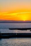 Pier in Cadiz at sunrise Stock Photography