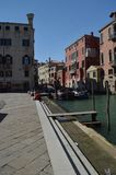 Pier in the Campo Santi Giovanni Y Paolo In Venice. royalty free stock photo