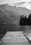 Pier on a Canadian lake Stock Images