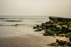 Pier in Caorle Lizenzfreies Stockfoto