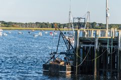 Pier at Cape Cod. Harbor at Cape Cod peninsula, USA Stock Photos