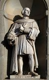 Pier Capponi, statue in the Niches of the Uffizi Colonnade in Florence. Pier Capponi, statue in the Niches of the Uffizi Colonnade. The first half of the 19th stock photo