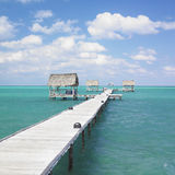 Pier in Cayo Guillermo Royalty Free Stock Images