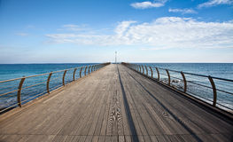 Pier in Ceriale (Italy) Stock Photos