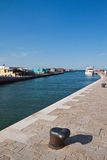 Pier in Cesenatico stockbilder