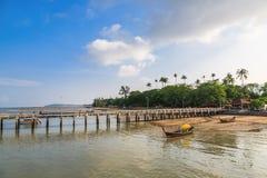 Pier an Chalong-Bucht, Phuket, Thailand Stockfotos