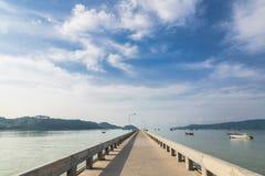 Pier an Chalong-Bucht, Phuket, Thailand Lizenzfreie Stockfotos