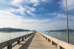 Pier an Chalong-Bucht, Phuket, Thailand Stockbild