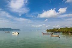 Pier an Chalong-Bucht, Phuket, Thailand Lizenzfreies Stockfoto