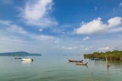 Pier an Chalong-Bucht, Phuket, Thailand Stockfoto