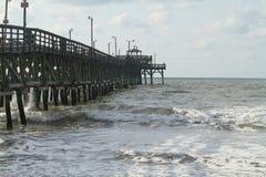 Pier. Cherrygrove pier at cherrygrove south carolina Stock Photos