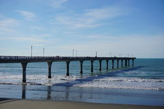Pier at Christchurch, New Zealand Stock Image