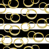 pierścienie Akwarela bezszwowy wzór Zdjęcia Stock