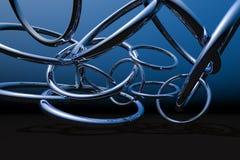 pierścienie chromów Fotografia Royalty Free