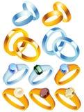 pierścienie szlachetnych kamieni zbierania danych ilustracji