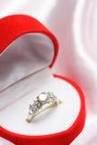 pierścionek z diamentem Obrazy Royalty Free