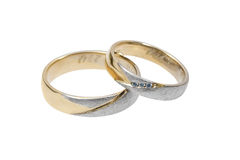 pierścionków target1036_1_ Zdjęcia Royalty Free