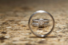 pierścionków target1120_1_ Zdjęcie Stock