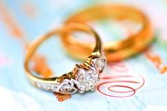 pierścionków target1600_1_ Zdjęcie Royalty Free