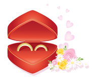 pierścionków target3255_1_ Zdjęcia Royalty Free