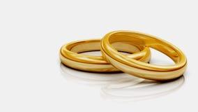 pierścionki dwa Obraz Royalty Free