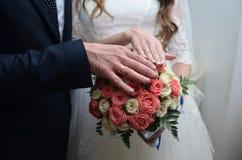 Pierścionki na palcach Fotografia Stock