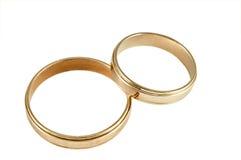 pierścionki target2024_1_ dwa Obrazy Royalty Free