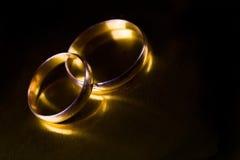 pierścionki target800_1_ dwa Zdjęcia Royalty Free