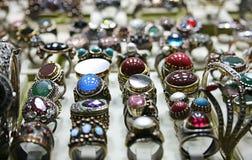 pierścionku srebro Obraz Royalty Free