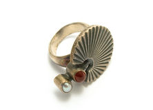 pierścionku stary srebro Obraz Stock