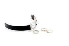pierścionku zegarek Fotografia Stock
