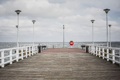 Pier in City Gdansk - Poland Stock Photography