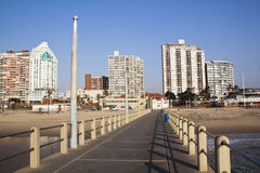 Pier and City Skyline on Golden Mile Beach Front Royalty Free Stock Image
