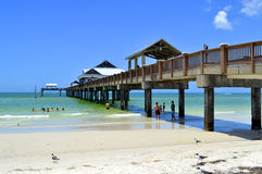 Pier 60 Clearwater Beach Florida, USA - May 12, 2015: tourists on the beach bar enjoying the sun Royalty Free Stock Photo