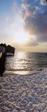 Pier am Clearwater Strand lizenzfreie stockbilder