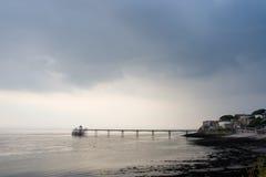 pier clevedon zdjęcie stock