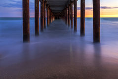 Pier on the coast of the Caspian Sea near Baku.Azerbaijan royalty free stock photography