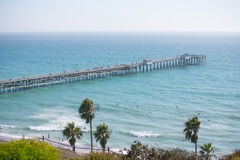 Pier on the coast Royalty Free Stock Photography
