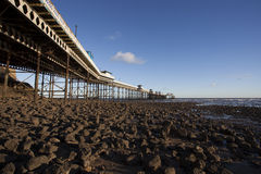 Pier on coast Stock Image