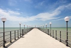 Pier on the coast of the Sea Royalty Free Stock Image