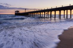 Pier on the coast of the Sea. Nature stock photos
