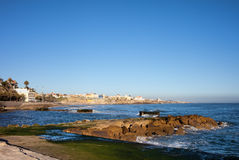 Pier and Coastline of Estoril in Portugal Stock Photography