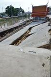 Pier collapse in Thailand Stock Photos