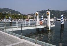 pier, Como, lake Como, Italy Royalty Free Stock Photos