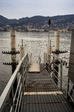 Pier on Como lake Royalty Free Stock Photos